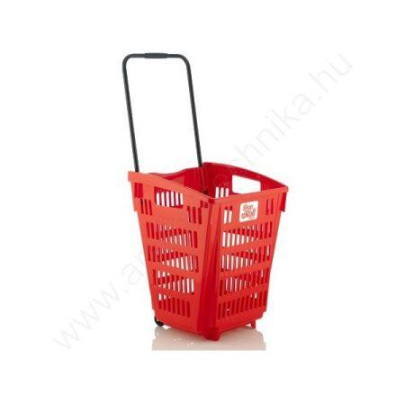 Gurulós bevásárló kosár 52 literes - PIROS