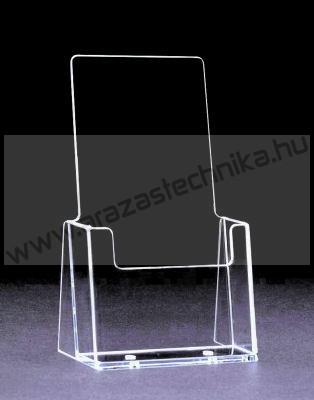 Prospektustartó 104 x 201 x 32 mm - asztali
