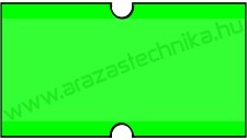 21×12mm fluo zöld árazócímke