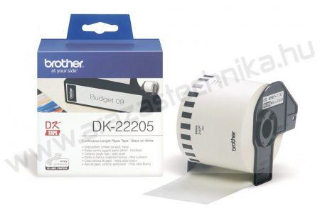 Brother DK-22205 folyamatos etikett 62mm×30,48 méter