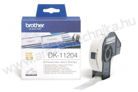 Brother DK-11204 etikett 17mm x 54mm 400db/tekercs