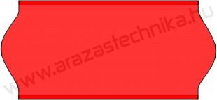 26x12mm eredeti OLASZ FLUO piros árazószalag