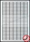 25,4×10 mm 189 db/ív Rayfilm íves etikett címke [5042A]