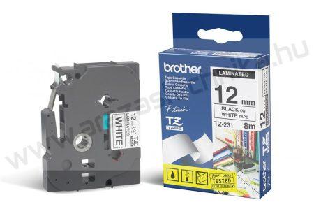 12mm Brother TZe-231 szalag fehér-fekete (eredeti)