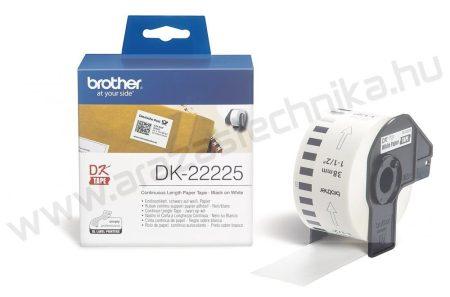 Brother DK-22225 folyamatos etikett 38mm×30,48 méter / polccímke