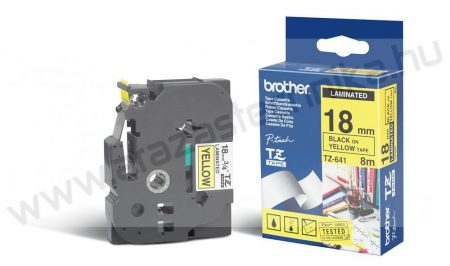 18mm Brother TZe-641 sárga/fekete