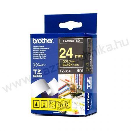24mm Brother TZe-354 szalag fekete/arany