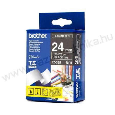 24mm Brother TZe-355 szalag fekete/ fehér