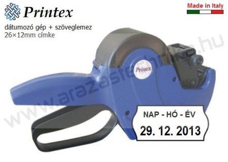 """PRINTEX Z10 dátumozó gép """"NAP-HÓ-ÉV"""" klisével"""