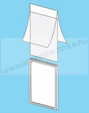 Plakátkeret fólia A6 PVC átlátszó