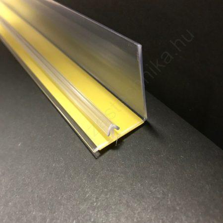 Öntapadós termékmegállító 30 mm magas×1 méter széles kidőlésgátló polcszélre