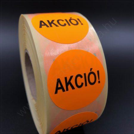 35 mm AKCIÓ fluo NARANCS körcímke - visszaszedhető