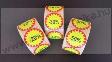35mm FLASH -%%% öntapadó körcímke (1500 db/tek)