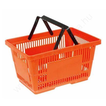 22 literes kézi bevásárló kosár - narancs