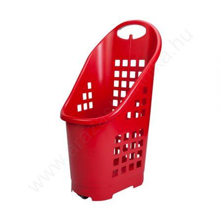 Gurulós bevásárló kosár 64 literes PIROS