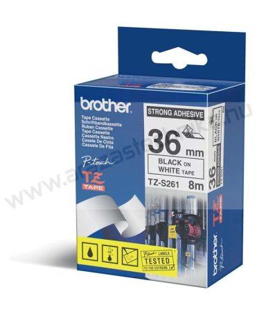 36mm Brother TZe-S261 szalag fehér/fekete