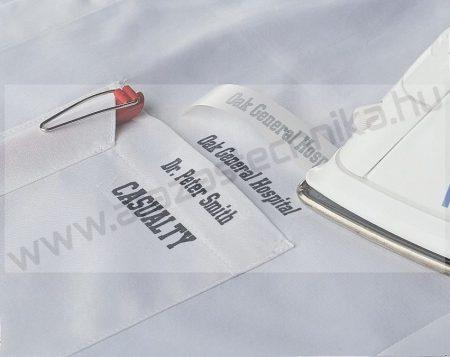 12mm Brother TZe-FA3 textil szalag  fehér/kék