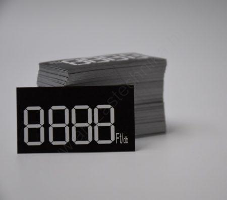 Digitális számok 50×28mm papír címkén