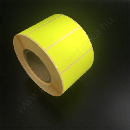 50x25 mm TT papír címke (1.000db/tek) - fluo CITROM