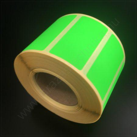 50x25 mm TT papír címke (1.000db/tek) -  fluo ZÖLD