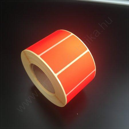 50x25mm TT papír címke (1.000db/tek) - fluo PIROS