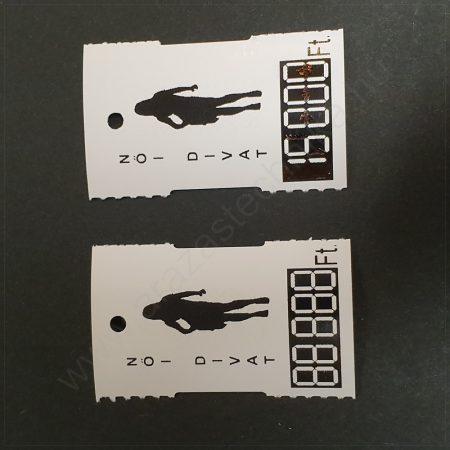 Függő címke 30×50mm árcédula ruhára Női Divat felirat 500 db/csom