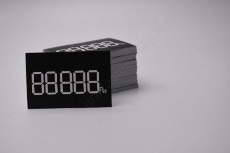 Digitális etikett 60×40 mm FEKETE alap (200 db/cs)
