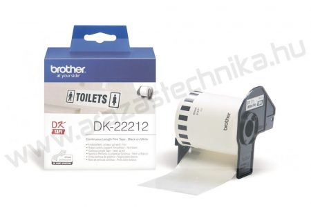 Brother DK-22212 PVC film 62mm×15,24m / fehér