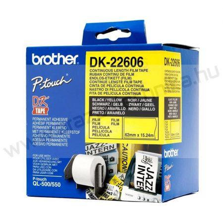 Brother DK-22606 PVC film 62mm×15,24m / sárga