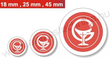 18mm szigillum / piros
