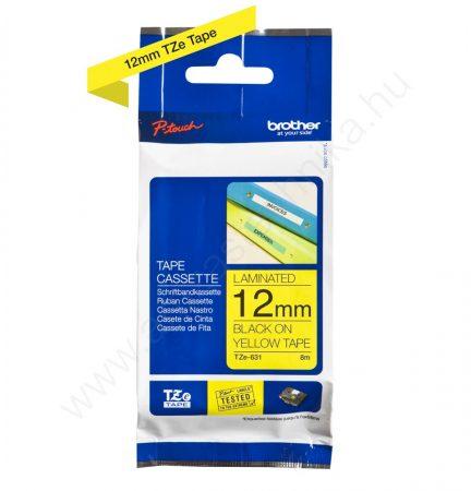 12mm Brother TZe-631 szalag sárga-fekete (eredeti)
