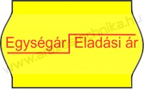 26x16mm Egység ár/Eladási ár ORIGINAL árazócímke - sárga