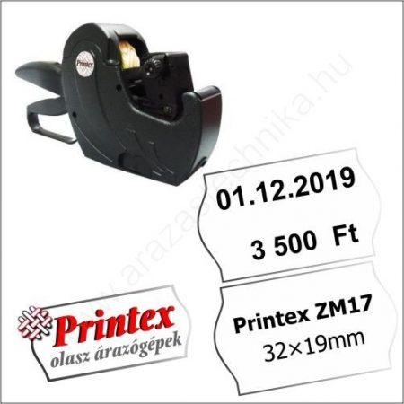 PRINTEX ZM17 kétsoros árazógép (32×19mm) - cikkszám