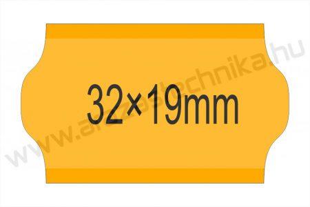 32x19mm FLUO narancs OLASZ árazószalag