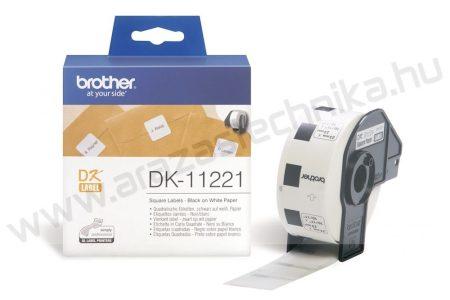Brother DK-11221 etikett 23mm x 23mm 1000db/tekercs