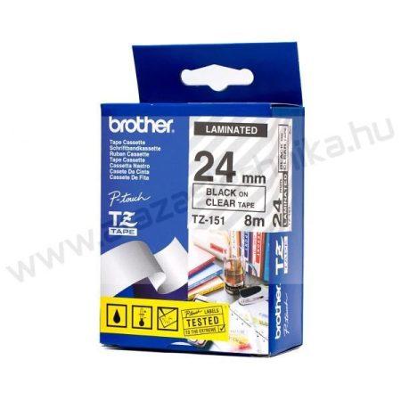 24mm Brother TZe-S151 szalag átlátszó/fekete