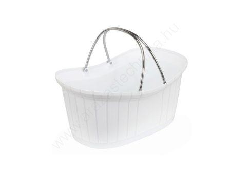 Elite - elegáns kézi bevásárló kosár 12l - fehér