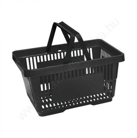 22 literes kézi bevásárló kosár - fekete