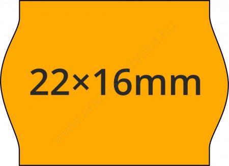 22x16mm FLUO narancs árcímke METO1622 géphez (42tek/#)