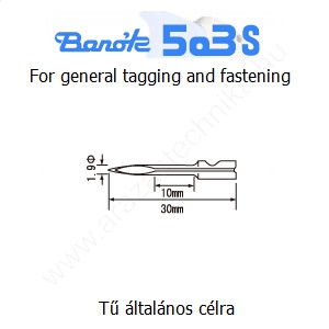 Póttű Banók 503-S szálbelövő pisztolyhoz (3db/cs)