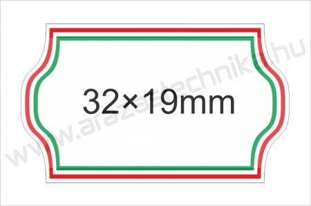 32x19mm Nemzeti címke (1.000db/tek) visszaszedhető ragasztóval
