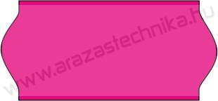 26x12mm eredeti OLASZ FLUO pink árazószalag