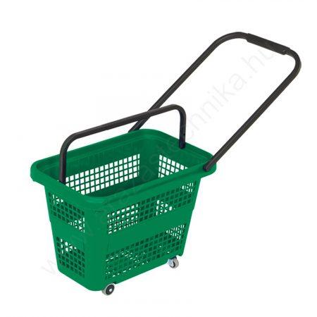 Gurulós bevásárló kosár 32 literes - zöld