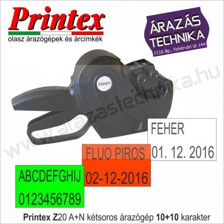 PRINTEX  Z20/10A+10N kétsoros dátumozó