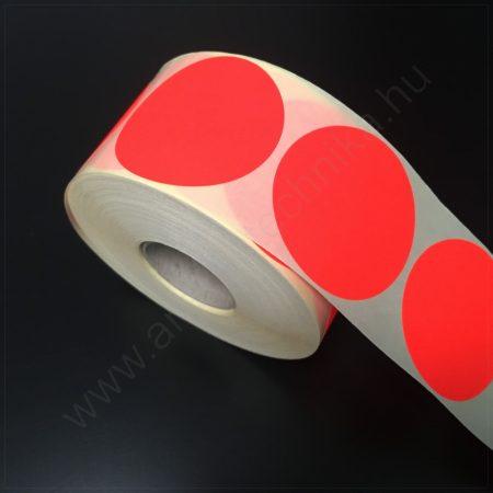 60 mm körcímke - fluo PIROS (1.000db/tek)