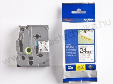 24mm Brother TZe-S251  fehér-fekete szalag (eredeti)