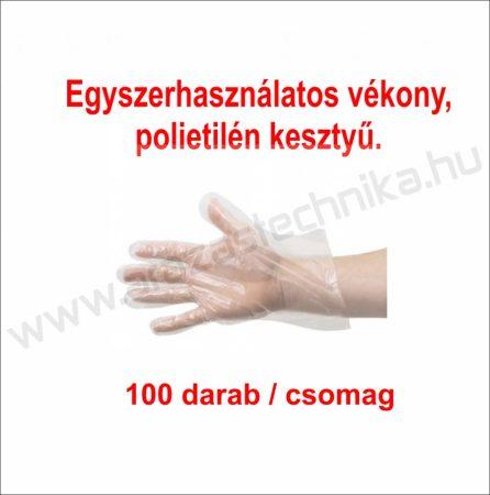 Eldobható műanyag kesztyű (100 db/cs)