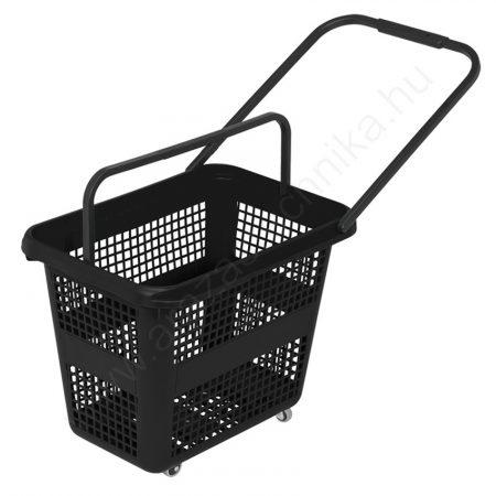Gurulós bevásárló kosár 54 literes - fekete