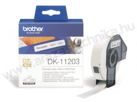 Brother DK-11203 etikett 17mm x 87mm 300db/tekercs
