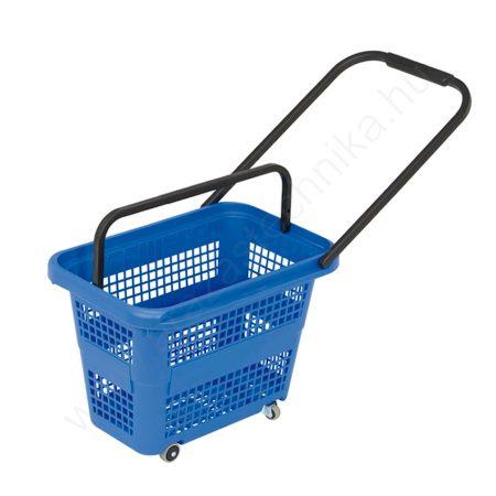 Gurulós bevásárló kosár 32 literes  - kék